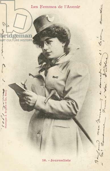 Journalist, Woman Of The Future (b/w photo)