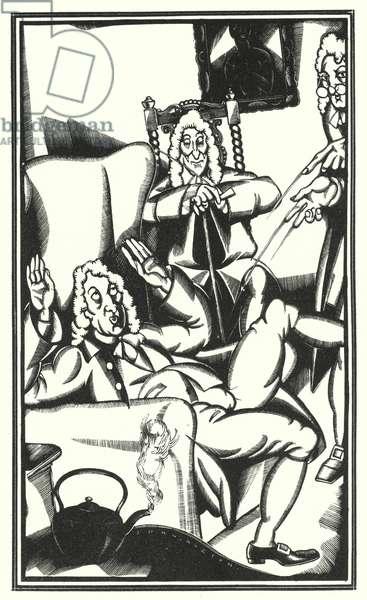 Illustration for Tristram Shandy by Laurence Sterne (litho)