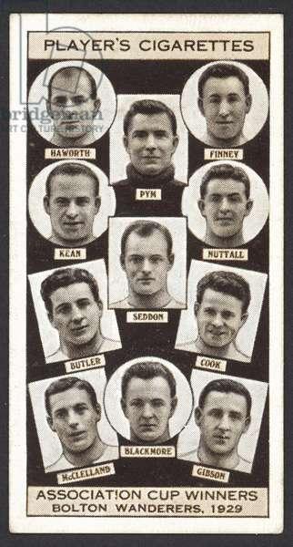 Association Cup Winners, Bolton Wanderers, 1929 (litho)