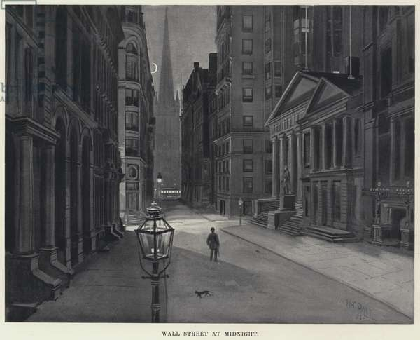 Wall Street at Midnight (litho)