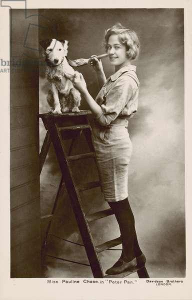Pauline Chase, American actress, as Peter Pan (b/w photo)
