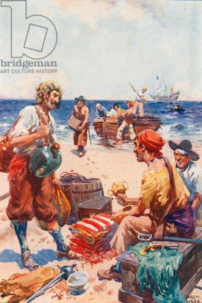 On Buccaneers' Island (colour litho)