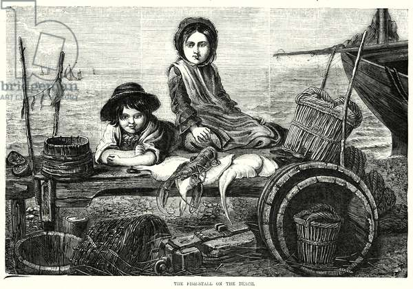 The Fish-Stall on the Beach (engraving)