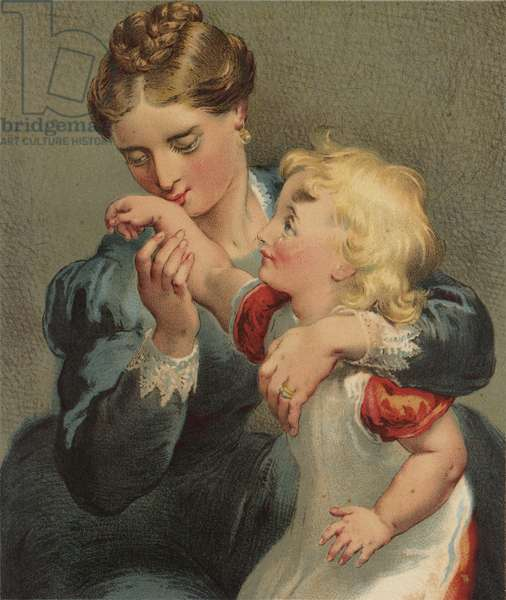 And kissed the Place to make it well? My Mother! (chromolitho)