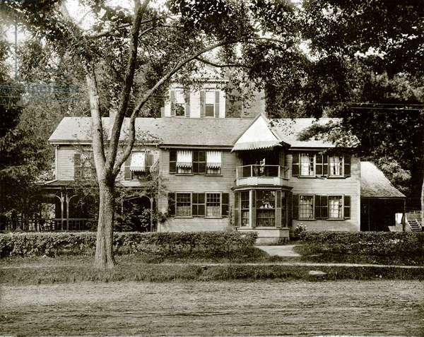 Hawthorne House, Concord (b/w photo)