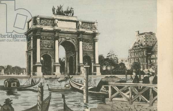 Arc de Triomphe du Carrousel, Paris (colour photo)