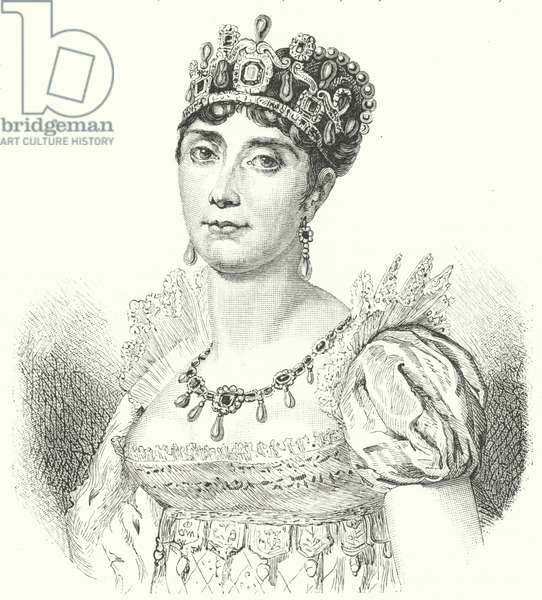 Josephine de Beauharnais, first wife of Napoleon I (engraving)