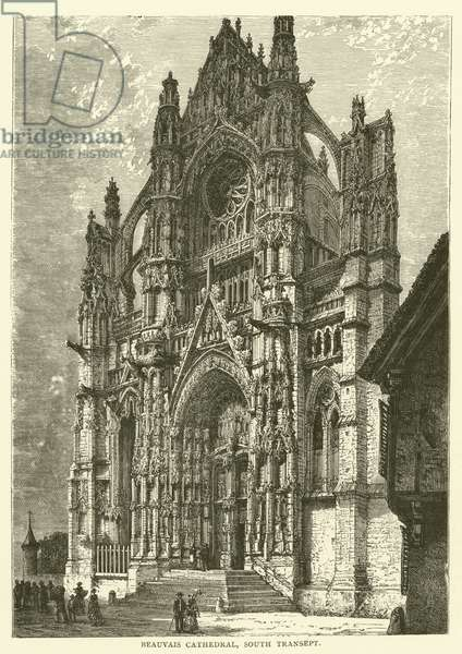 Beauvais Cathedral, South Transept (engraving)