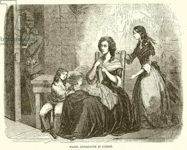 Marie Antoinette in Prison (engraving)