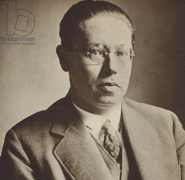 Lion Feuchtwanger, German Jewish novelist and playwright (b/w photo)