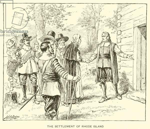 The Settlement of Rhode Island (litho)