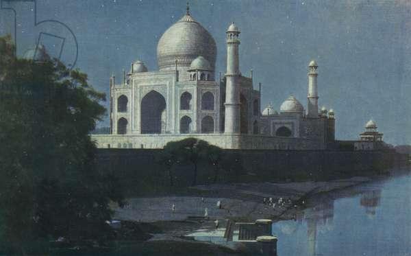 The Taj-Mahal, Agra (colour litho)