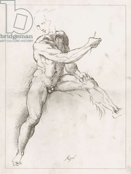 Facsimile of a Study by Raphael (engraving)