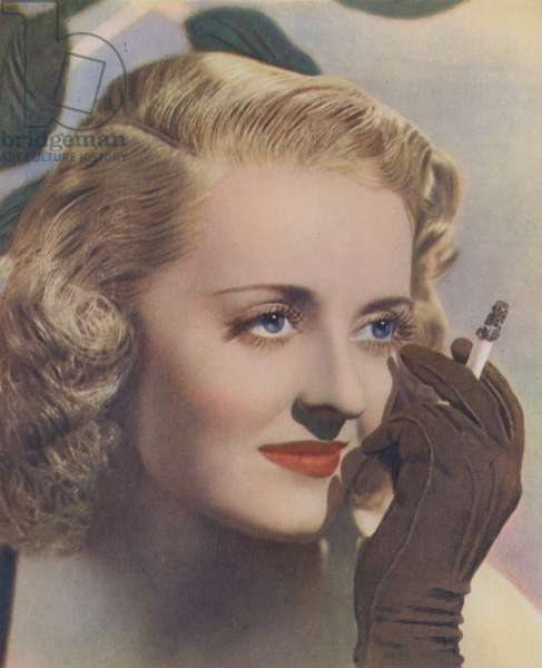 Bette Davis (colour litho)