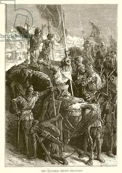The crusaders before Jerusalem (engraving)