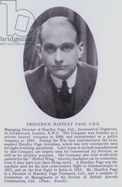 Frederick Handley Page, CBE (b/w photo)