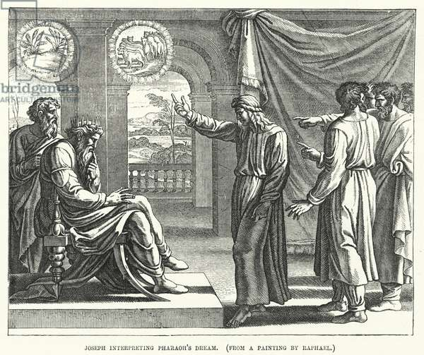 Joseph interpreting Pharaoh's Dream, from a painting by Raphael (engraving)
