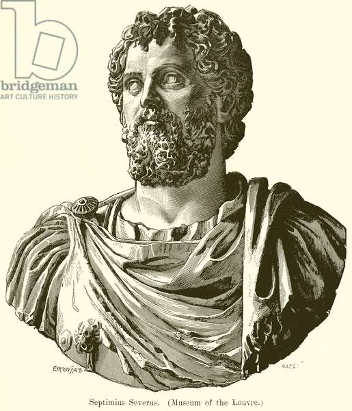 Septimius Severus. (Museum of the Louvre) (engraving)