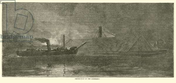 Destruction of the Albemarle, October 1864 (engraving)