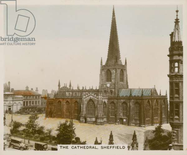 The Cathedral, Sheffield (coloured photo)