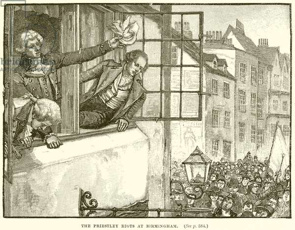 The Priestley Riots at Birmingham (engraving)