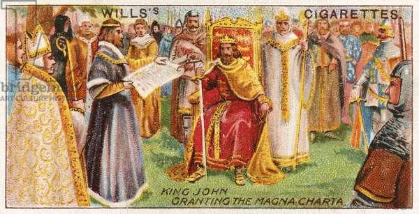 King John granting the Magna Charta