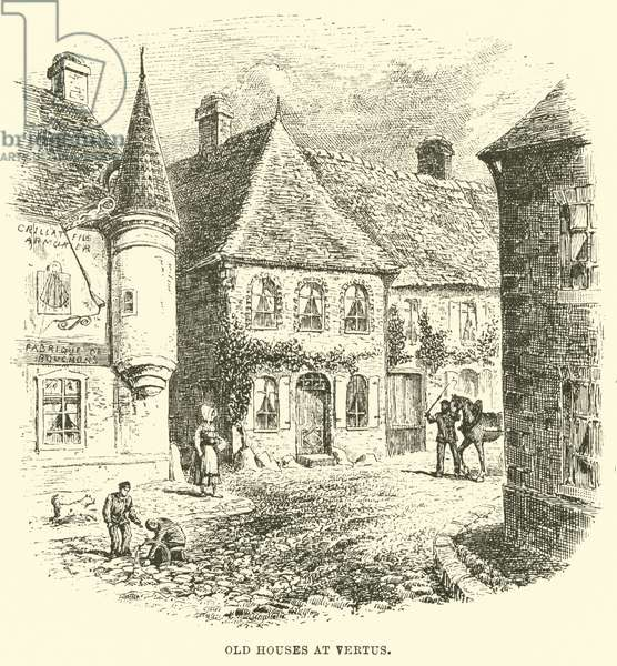 Old Houses at Vertus (engraving)
