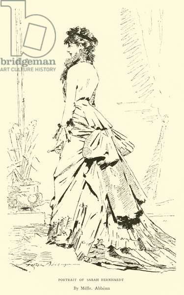 Portrait of Sarah Bernhardt (engraving)