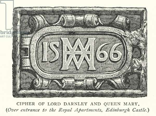 Cipher of Lord Darnley and Queen Mary (engraving)