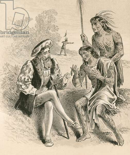 The kindness of Columbus to the natives