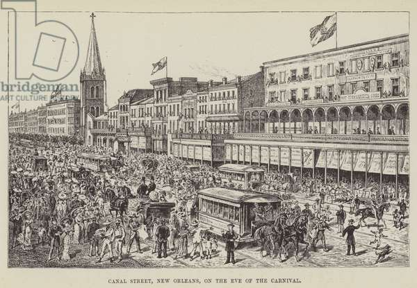 Canal Street, New Orleans, on the Eve of the Carnival (engraving)