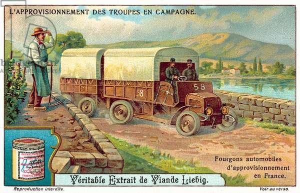 Army supply van in France (chromolitho)