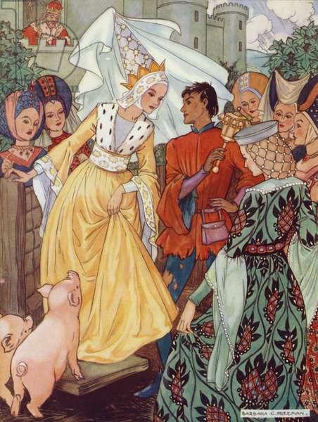 Hans Christian Andersen story: The Swine Herd (colour litho)
