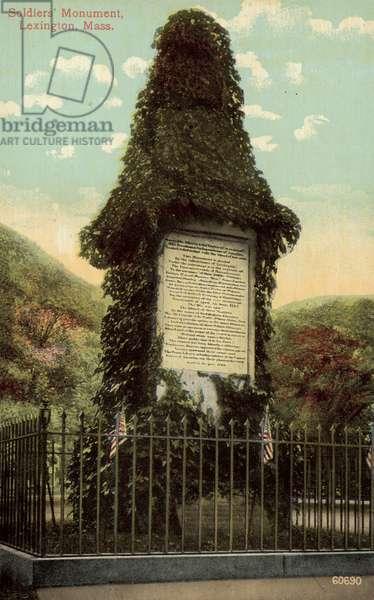 Soldiers' Monument, Lexington, Massachusetts (colour photo)