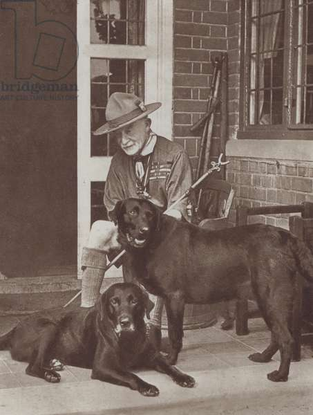 Robert Baden-Powell, 1st Baron Baden-Powell, founder of the Scout Movement (b/w photo)