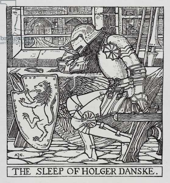 Hans Christian Andersen: Holger Danske (litho)