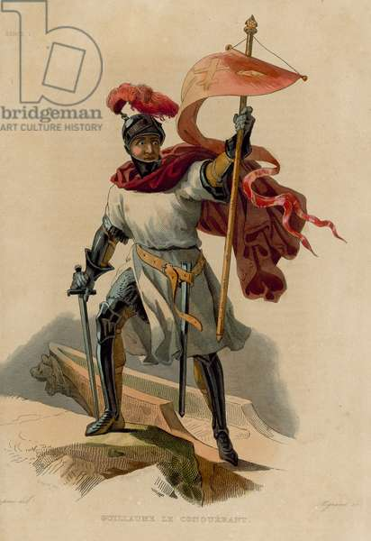Guillaume le Conquerant (coloured engraving)