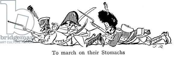 To March On Their Stomachs, according to Napoleon (lithograph)