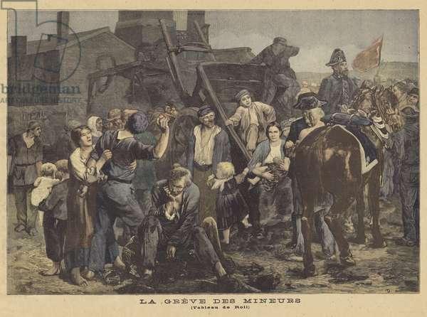 The Miners' Strike (colour litho)
