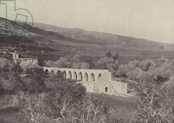 The Valley of Shechem (b/w photo)