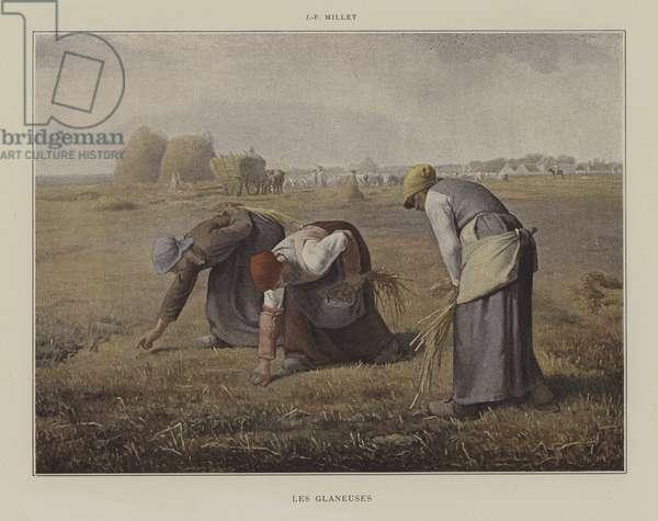 Les Glaneuses (colour litho)
