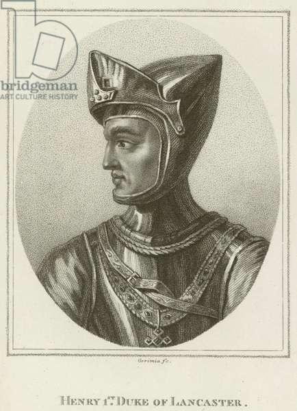 Henry 1st, Duke of Lancaster (engraving)