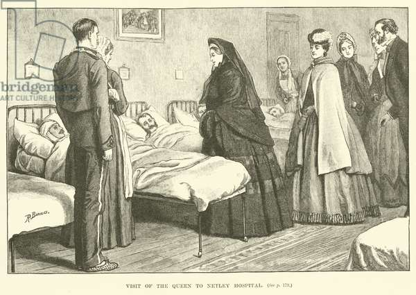 Visit of the Queen to Netley Hospital (engraving)