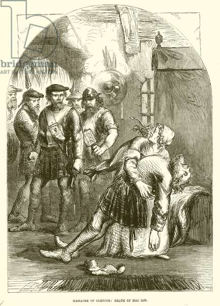 Massacre of Glencoe: Death of Mac Lan (engraving)