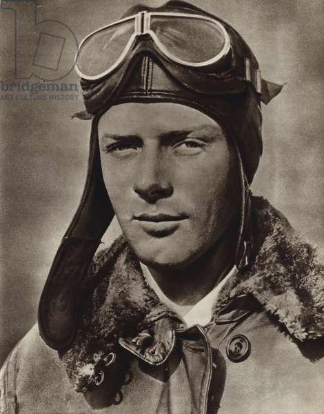 Charles Lindbergh, airman (b/w photo)