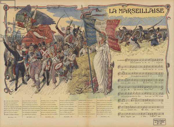 La Marseillaise (colour litho)
