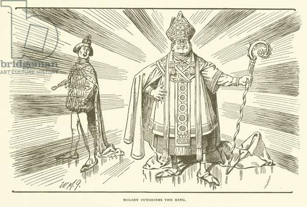 Wolsey Outshines the King (engraving)