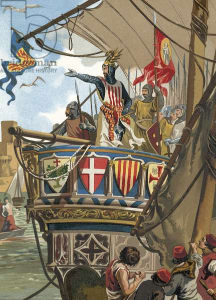 Departure of Jaime I of Aragon for the conquering of Mallorca