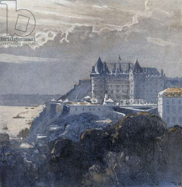 Quebec and the Chateau Frontenac (colour litho)