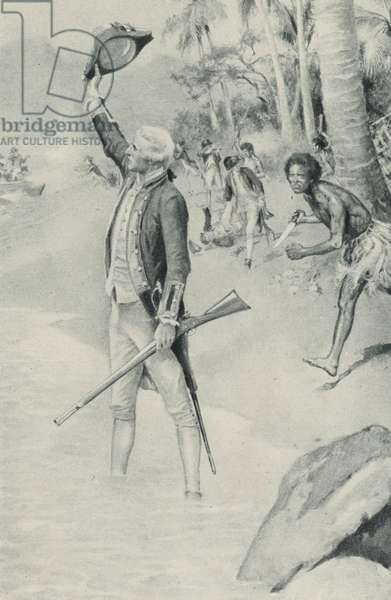 The last that was seen of Captain James Cook (litho)